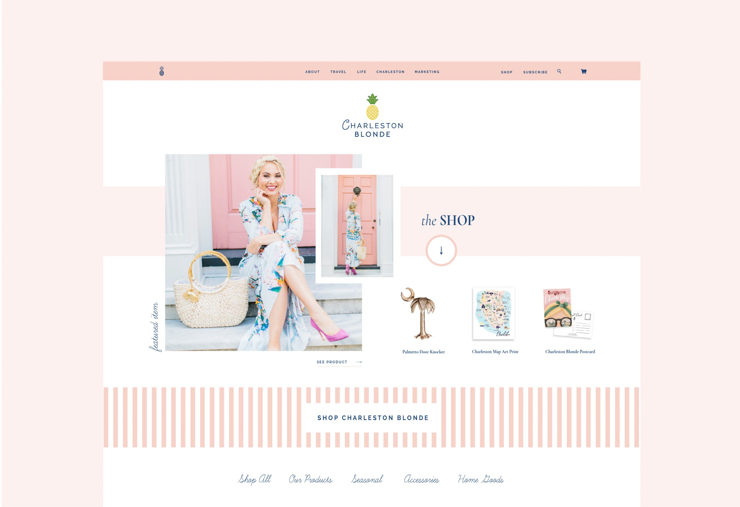 Charleston Blonde Blog Design by Studio 9 Co