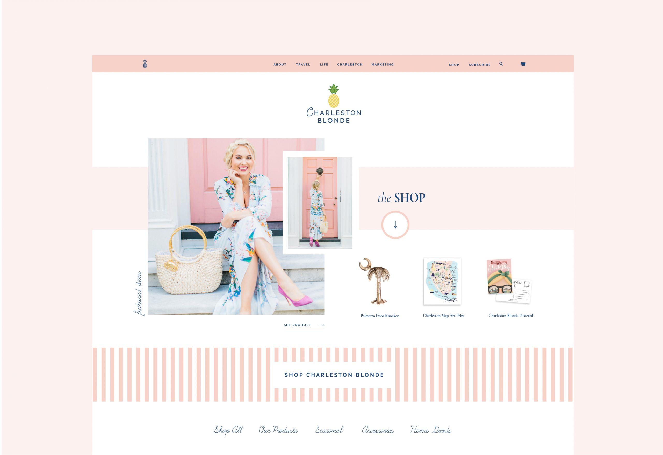 Charleston Blonde Blog Design by Studio 9 Co